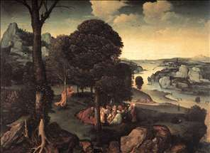 Landscape with St John the Baptist Preaching