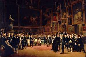 Charles V Distributing Awards to the Artists at the Close of the Salon of 1824