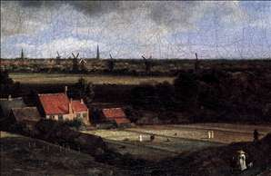 Landscape with a View of Haarlem (detail)