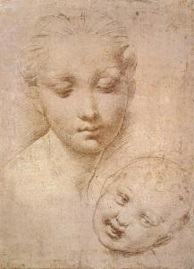 Study of Heads, Mother and Child