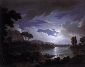 Moonlit Scene on the Tiber near Rome