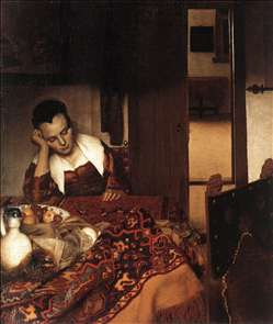 A Woman Asleep at Table