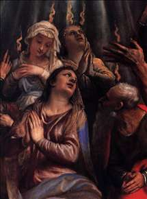 The Descent of the Holy Ghost (detail)