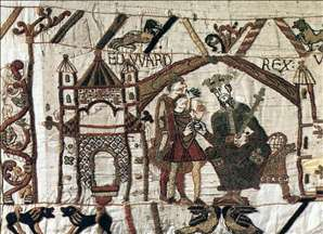 The Bayeux Tapestry: Initial scene