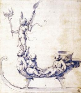 Sketch for a Sleigh with Putti