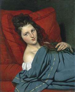 Half-length Woman Lying on a Couch