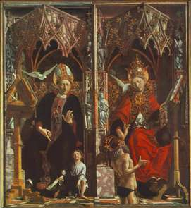 Altarpiece of the Church Fathers: St Augustine and St Gregory