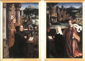 Donor with St Nicholas and his Wife with St Godelina