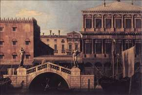 Capriccio: The Ponte della Pescaria and Buildings on the Quay