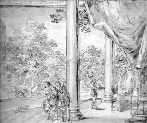 Figures in a Loggia