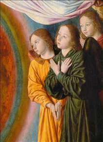 The Moulins Triptych (detail of the central panel)