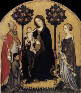 Virgin and Child with Sts Nicholas and Cathrine