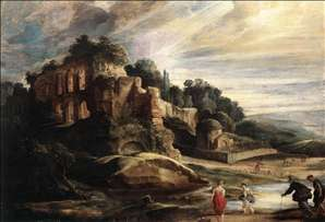 Landscape with the Ruins of Mount Palatine in Rome