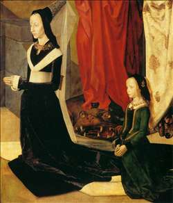 Sts Margaret and Mary Magdalene with Maria Portinari (detail)