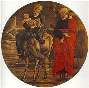 Flight to Egypt (from the predella of the Roverella Polyptych)
