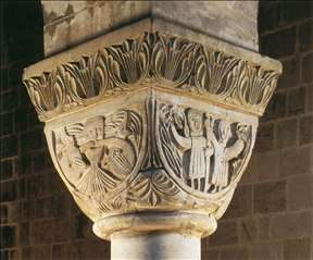 Capital with figural decoration