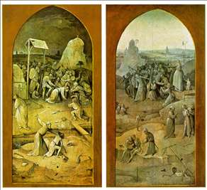 Tiptych of Temptation of St Anthony (outer wings)