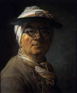 Self-Portrait with Eyeshade