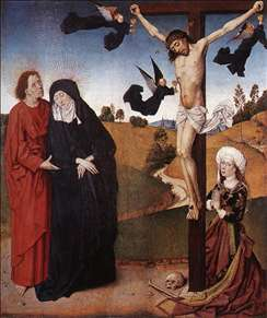 Christ on the Cross with Mary, John and Mary Magdalene
