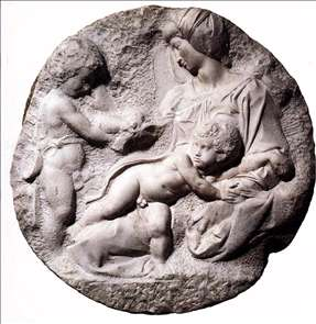 Madonna and Child with the Infant Baptist (Taddei Tondo)