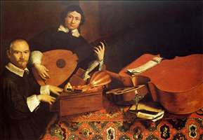 Self-Portrait with Musical Instruments