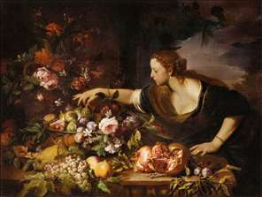 Woman Grasping Fruit