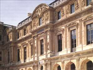 Façade of the Cour Carrée (wing Lescot)