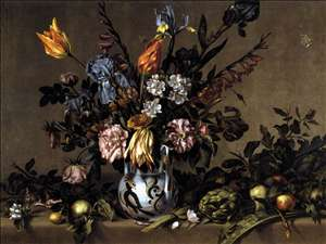 Still-Life with Flowers, Artichokes and Fruit