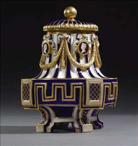 Sèvres Porcelain-Mounted Gilt-Bronze Inkstand