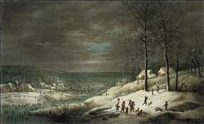 Winter Landscape with Hunters