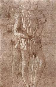Study of two standing figures