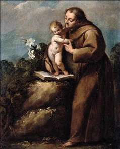 St Anthony of Padua and the Infant Christ