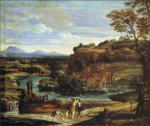 Landscape with a Child Overturning Wine