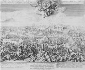 Battle of Narva on 19 November 1700