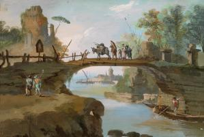 Landscape with Figures and a Bridge