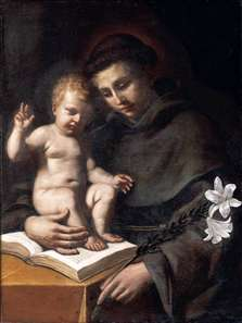 St Anthony of Padua with the Infant Christ