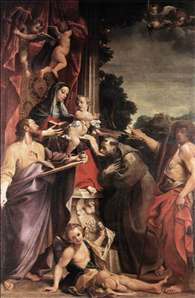 Madonna Enthroned with St Matthew
