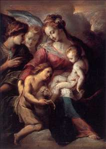 The Virgin and Child with the Infant St John the Baptist and Attendant Angels