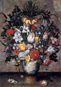 Flowers in a Chinese Vase