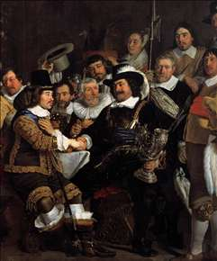 Celebration of the Peace of Münster, 1648, at the Crossbowmen's Headquarters (detail)