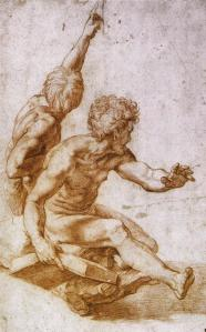 Figure Study of Two Apostles
