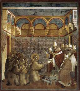 Legend of St Francis: 7. Confirmation of the Rule
