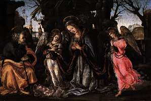 The Nativity with Two Angels