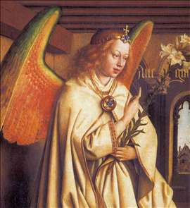The Ghent Altarpiece: Angel of the Annunciation (detail)