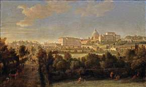 Rome: View of St Peter's and the Vatican Seen from Prati Di Castello