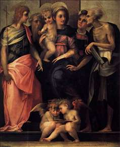 Madonna Enthroned with Four Saints