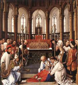 Exhumation of St Hubert