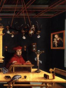 Cardinal Albrecht of Brandenburg as St Jerome in His Study (detail)