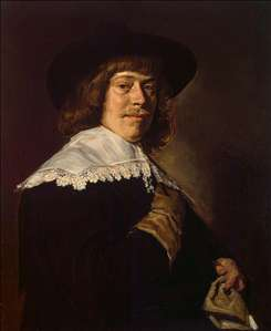 Portrait of a Young Man Holding a Glove