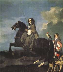 Queen Christina of Sweden on Horseback